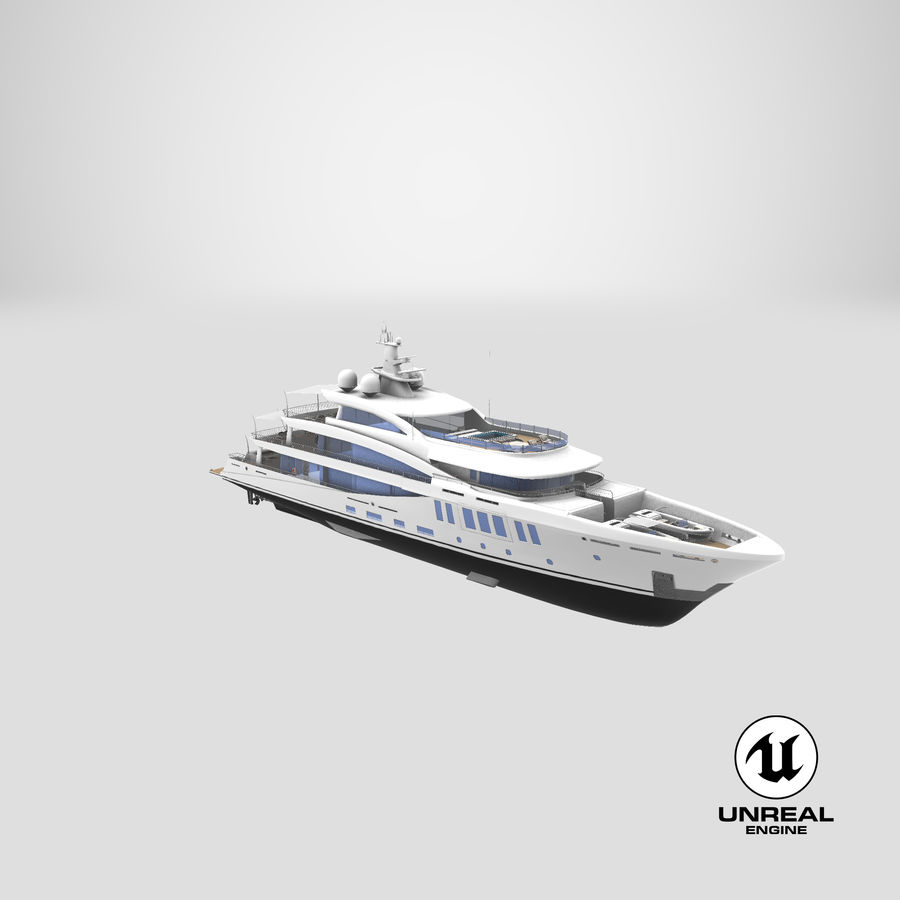 Amels 200 Yacht royalty-free 3d model - Preview no. 38