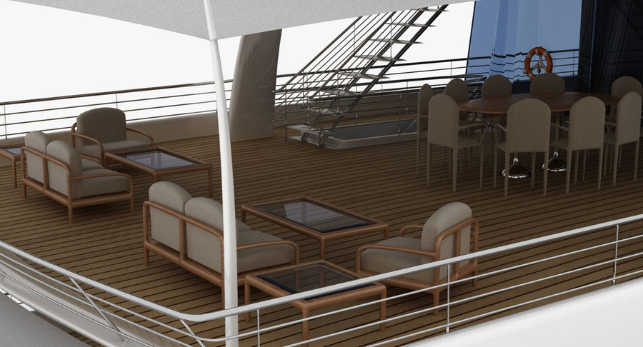 Amels 200 Yacht royalty-free 3d model - Preview no. 15