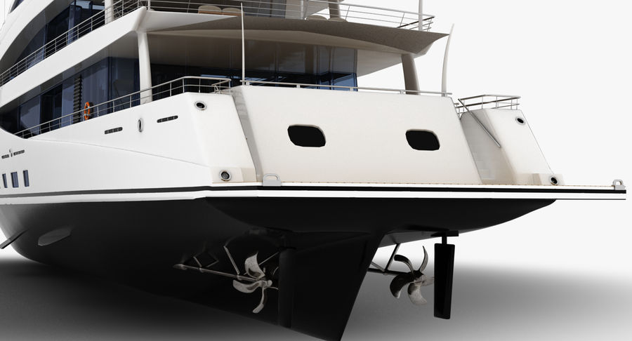 Amels 200 Yacht royalty-free 3d model - Preview no. 16