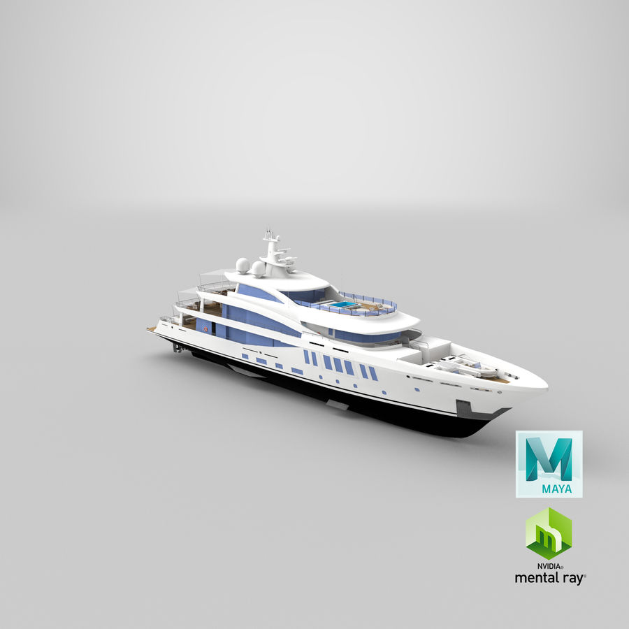Amels 200 Yacht royalty-free 3d model - Preview no. 35
