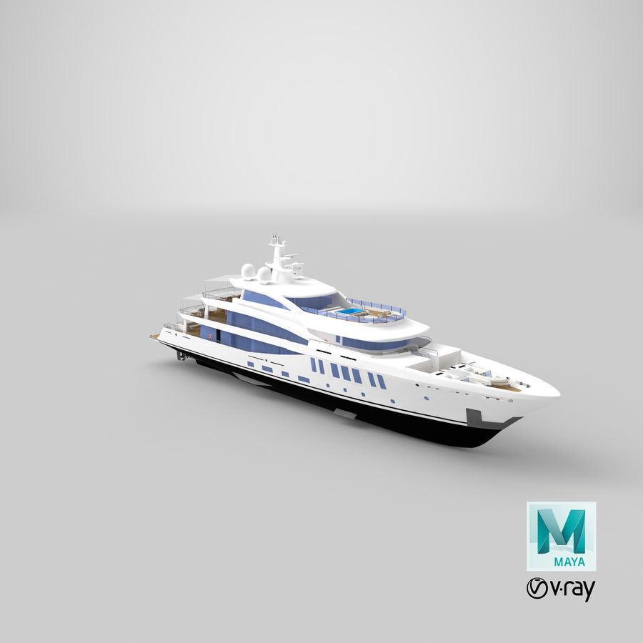 Amels 200 Yacht royalty-free 3d model - Preview no. 34