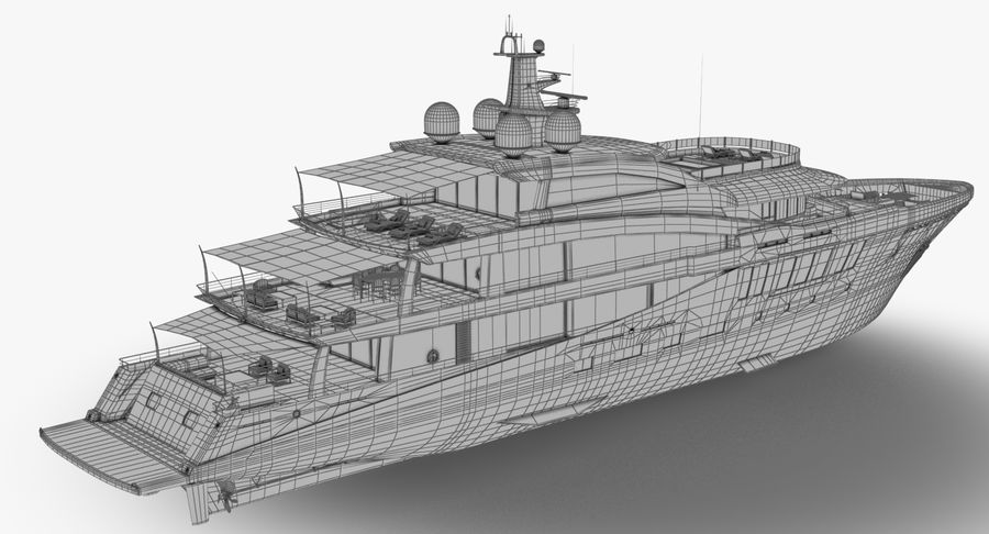 Amels 200 Yacht royalty-free 3d model - Preview no. 24