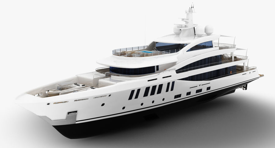 Amels 200 Yacht royalty-free 3d model - Preview no. 3