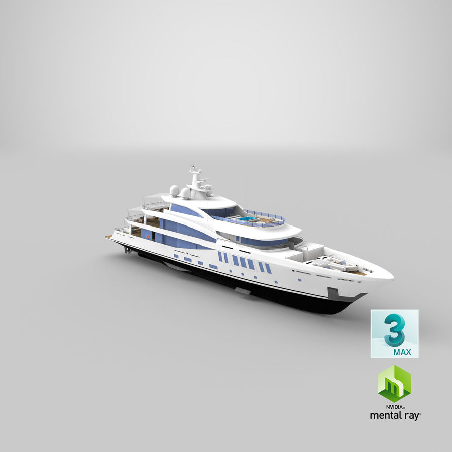 Amels 200 Yacht royalty-free 3d model - Preview no. 37