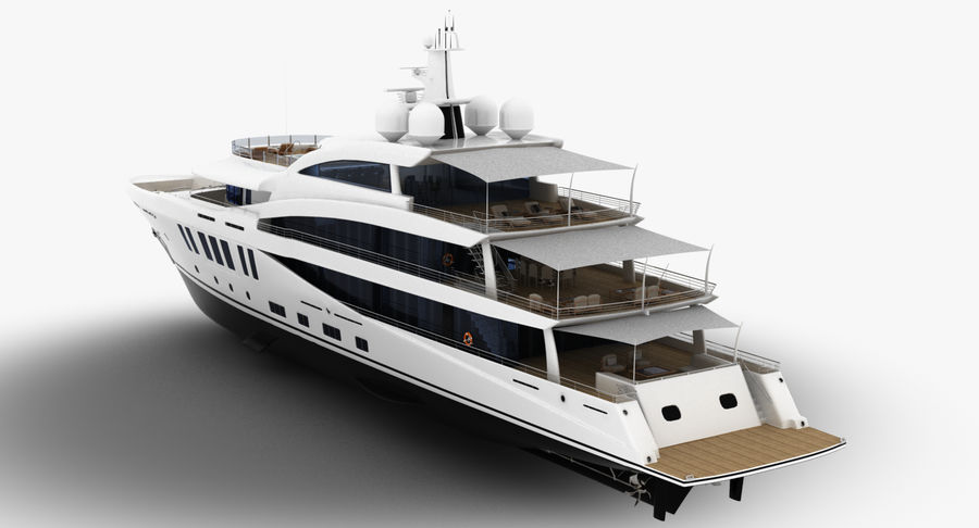 Amels 200 Yacht royalty-free 3d model - Preview no. 6
