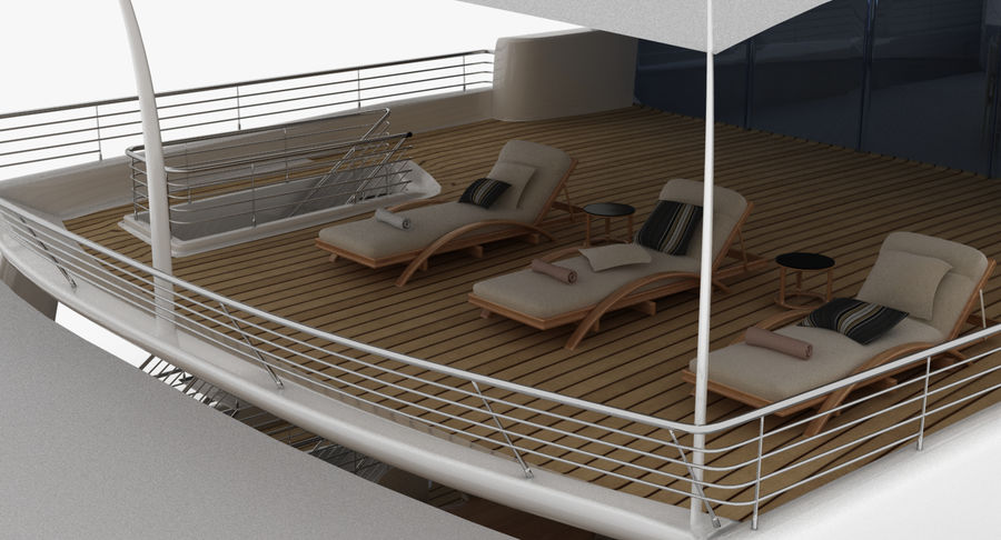 Amels 200 Yacht royalty-free 3d model - Preview no. 14