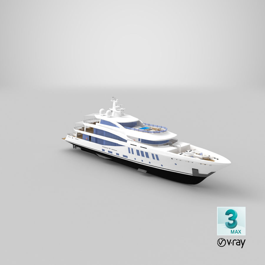 Amels 200 Yacht royalty-free 3d model - Preview no. 36