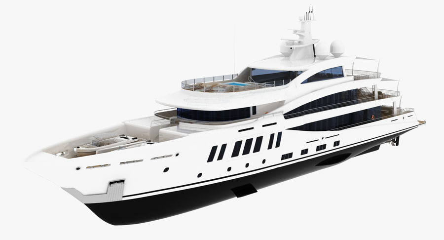 Amels 200 Yacht royalty-free 3d model - Preview no. 2