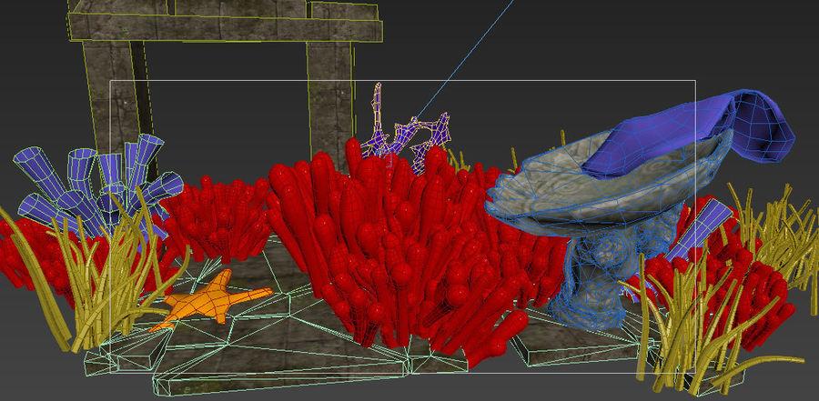 Korallenriff Unterwasserpflanzen royalty-free 3d model - Preview no. 5