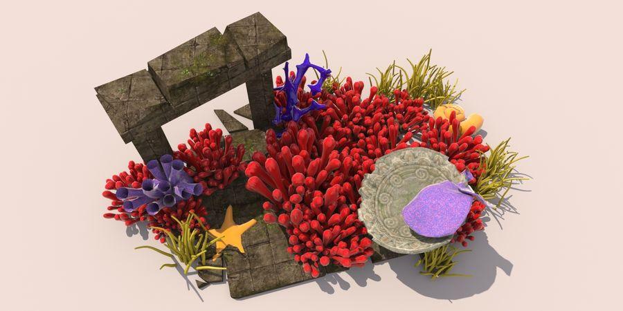 Korallenriff Unterwasserpflanzen royalty-free 3d model - Preview no. 2