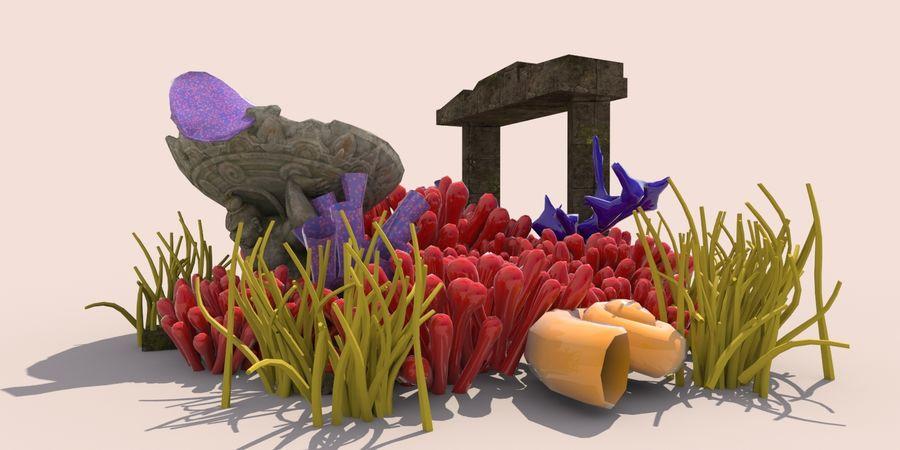 Korallenriff Unterwasserpflanzen royalty-free 3d model - Preview no. 3