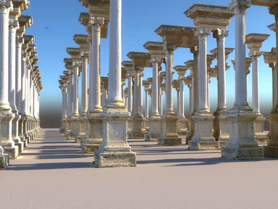 Ancient Pillar Pack royalty-free 3d model - Preview no. 11