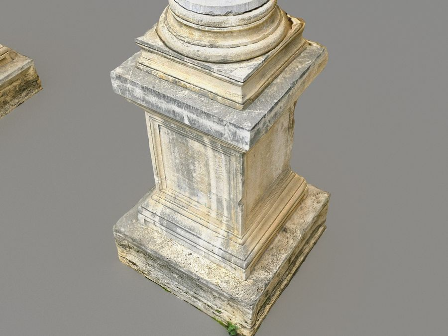 Ancient Pillar Pack royalty-free 3d model - Preview no. 4