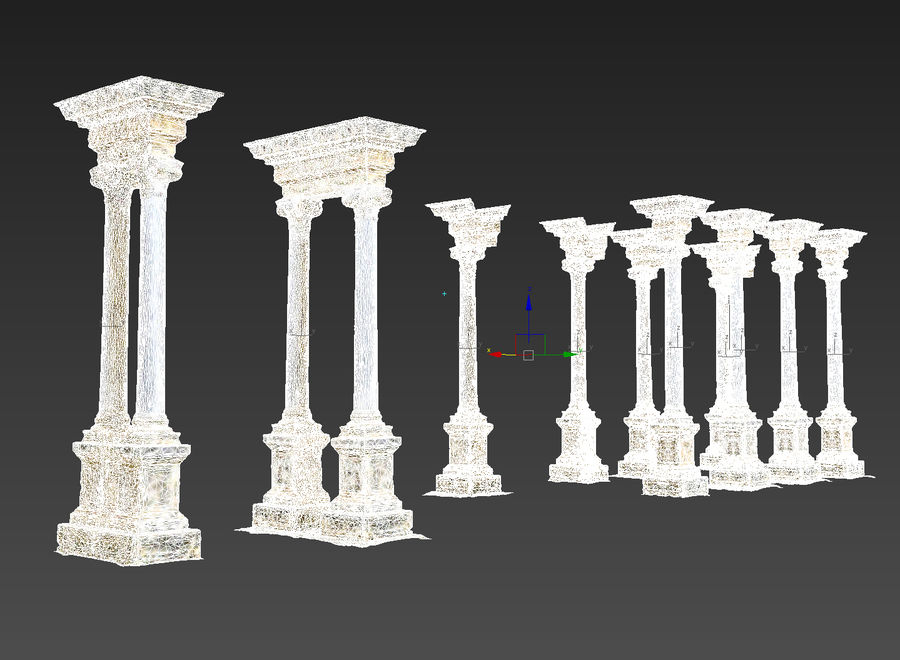 Ancient Pillar Pack royalty-free 3d model - Preview no. 15