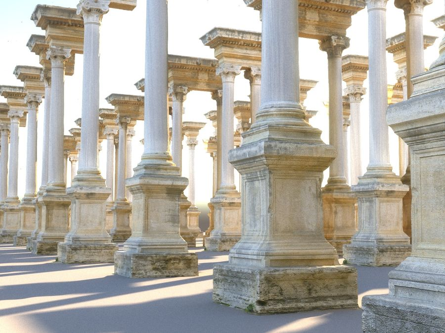Ancient Pillar Pack royalty-free 3d model - Preview no. 1