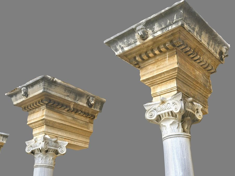 Ancient Pillar Pack royalty-free 3d model - Preview no. 7