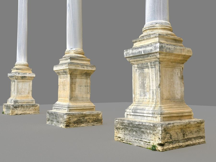 Ancient Pillar Pack royalty-free 3d model - Preview no. 8