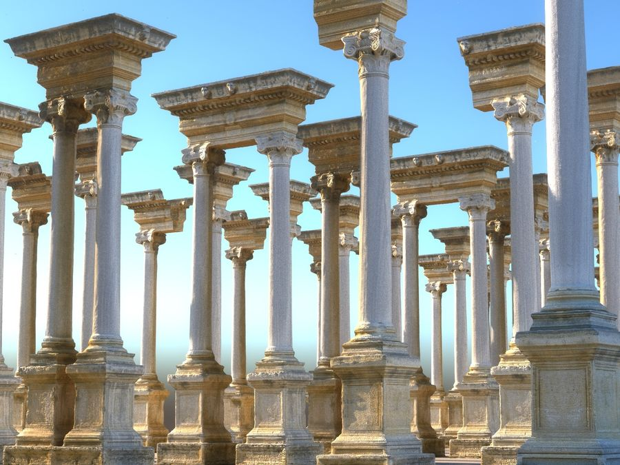 Ancient Pillar Pack royalty-free 3d model - Preview no. 13