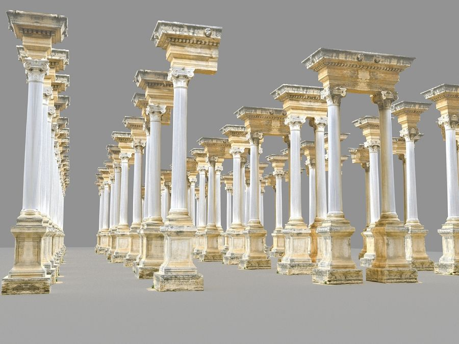 Ancient Pillar Pack royalty-free 3d model - Preview no. 12