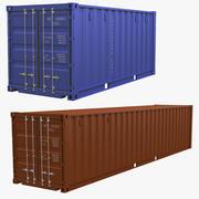 Conjunto de contenedores intermodales modelo 3d