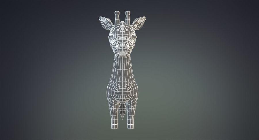 만화 기린 royalty-free 3d model - Preview no. 17