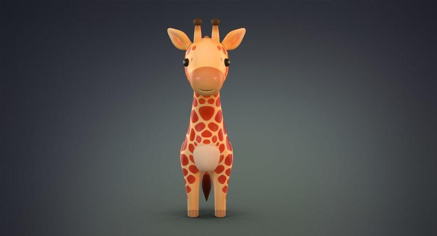 만화 기린 royalty-free 3d model - Preview no. 3