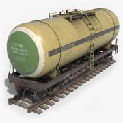 철도 탱크차 PBR / 낮은 폴리 3d model