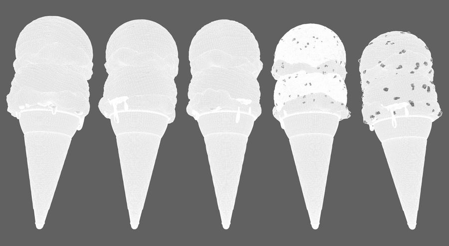 Ice cream cone royalty-free 3d model - Preview no. 7