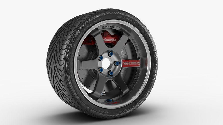 Llanta y neumático royalty-free modelo 3d - Preview no. 9