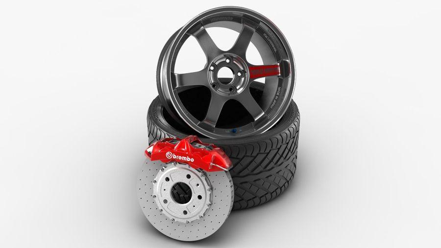 Llanta y neumático royalty-free modelo 3d - Preview no. 17
