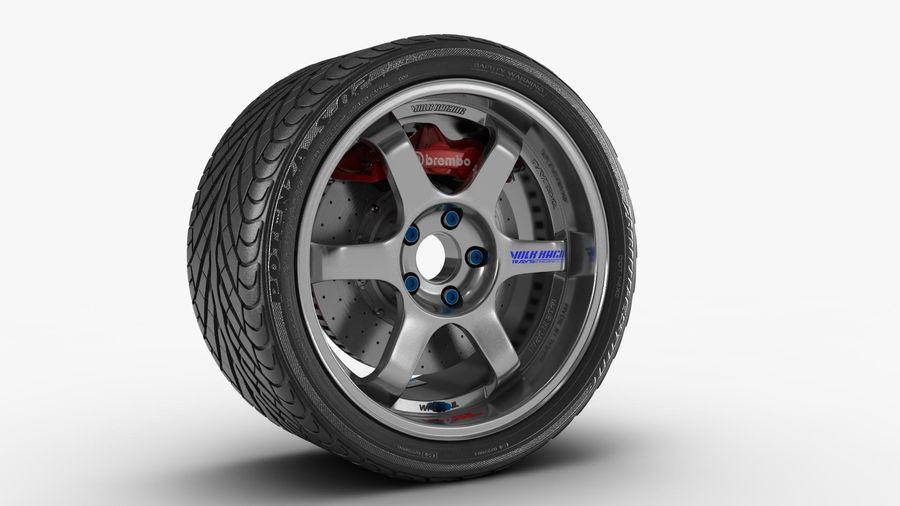 Llanta y neumático royalty-free modelo 3d - Preview no. 7