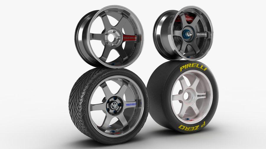 Llanta y neumático royalty-free modelo 3d - Preview no. 5