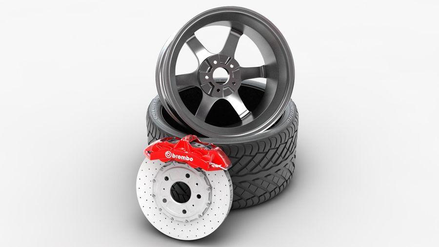 Llanta y neumático royalty-free modelo 3d - Preview no. 19