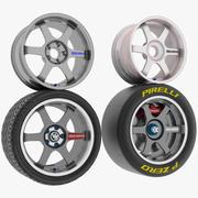 Car Rim and Tire 3d model
