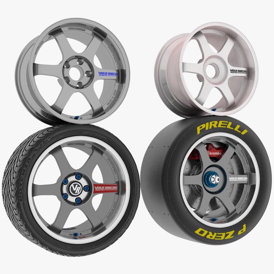 Llanta y neumático royalty-free modelo 3d - Preview no. 1