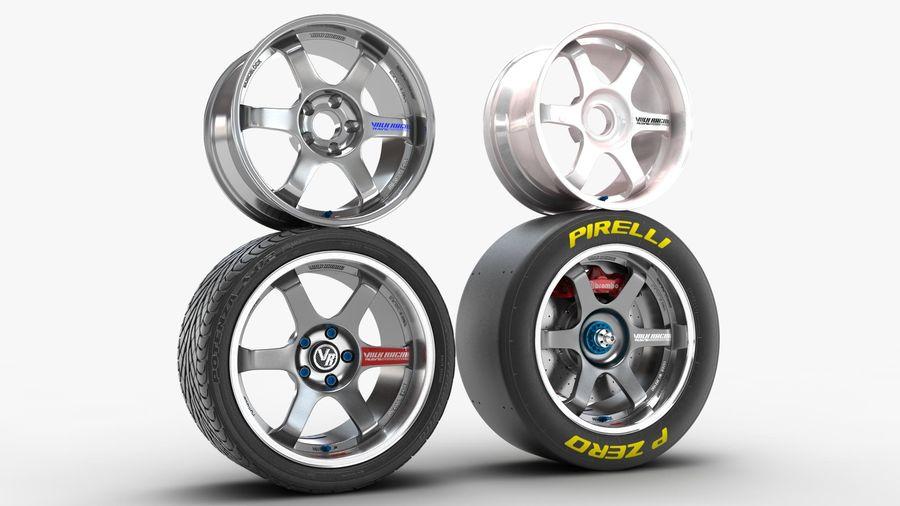 Llanta y neumático royalty-free modelo 3d - Preview no. 3