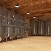 ワイン製造インテリア 3d model