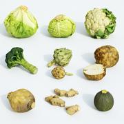 蔬菜套装 3d model