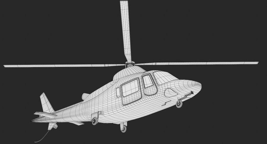 Agusta Westland AW109 Helikopteri royalty-free 3d model - Preview no. 14