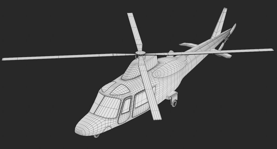 Agusta Westland AW109 Helikopteri royalty-free 3d model - Preview no. 13