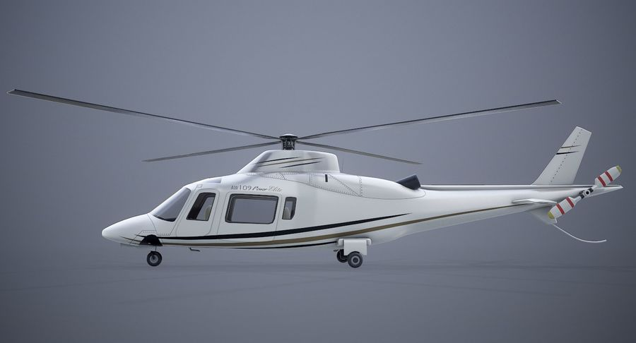 Agusta Westland AW109 Helikopteri royalty-free 3d model - Preview no. 6