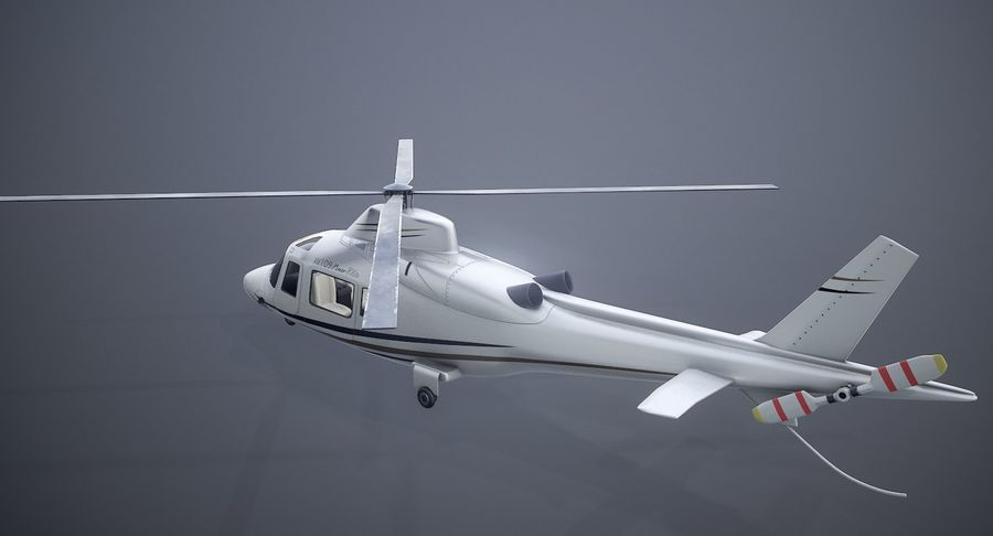 Agusta Westland AW109 Helikopteri royalty-free 3d model - Preview no. 5