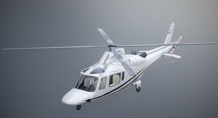 Agusta Westland AW109 Helikopteri royalty-free 3d model - Preview no. 11