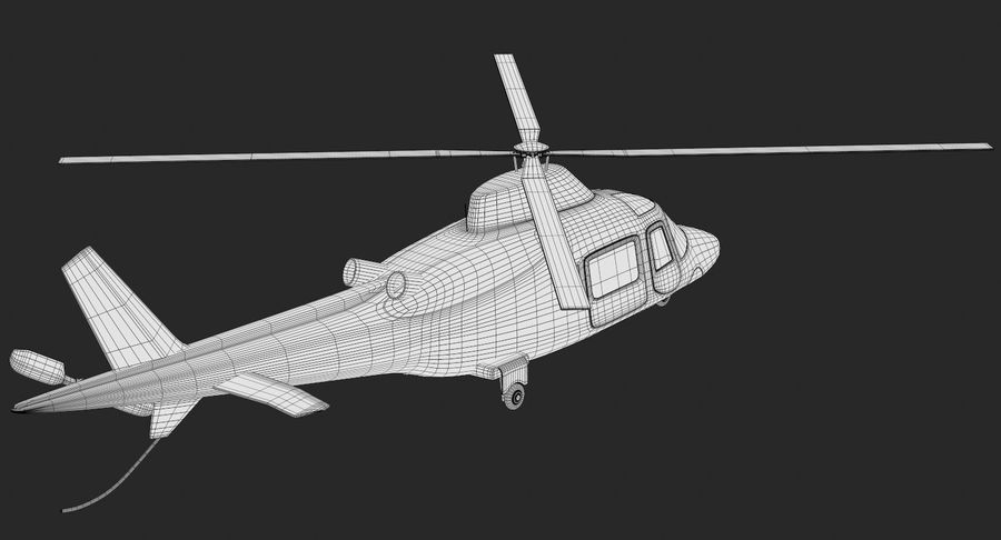 Agusta Westland AW109 Helikopteri royalty-free 3d model - Preview no. 15