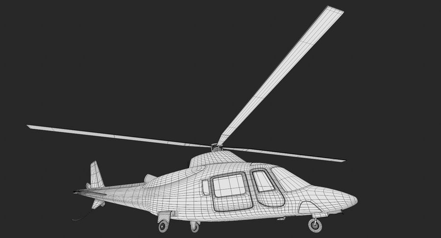 Agusta Westland AW109 Helikopteri royalty-free 3d model - Preview no. 16