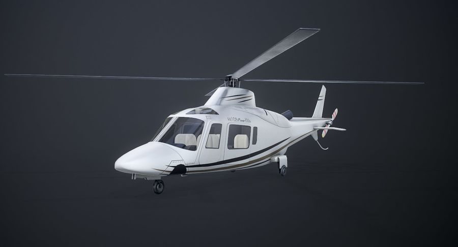 Agusta Westland AW109 Helikopteri royalty-free 3d model - Preview no. 2