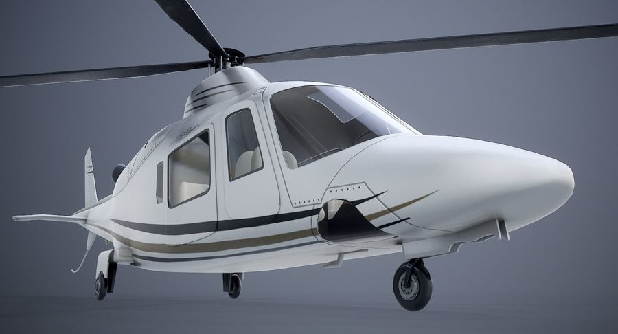 Agusta Westland AW109 Helikopteri royalty-free 3d model - Preview no. 9