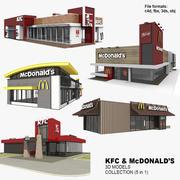 KFC & McDonalds 5 in 1 Collection (Vol.2) 3d model