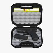 Glock 19 Gen 5 Full Detail and Case Glock 3d model