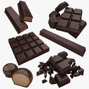 Schokoladensammlung (dunkel) 3d model